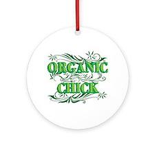 Organic Chick Ornament (round)