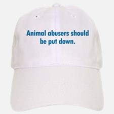 Animal Abusers Baseball Baseball Cap