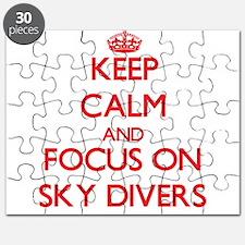 Cute Sky divers Puzzle