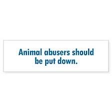 Animal Abusers Bumper Car Sticker