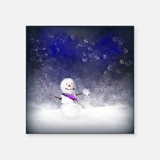 """Snowman Square Sticker 3"""" x 3"""""""