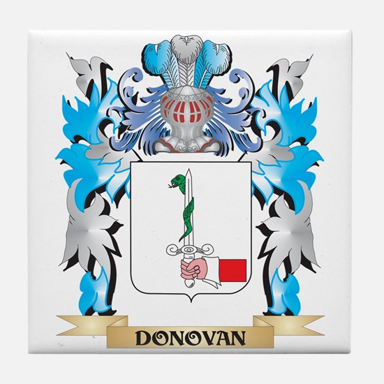 Cute Donovan family crest Tile Coaster