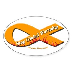 Stop Global Warming Orange Ribbon Decal