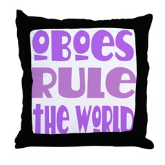 Oboes Rule Throw Pillow