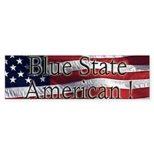 Blue State ! Bumper Bumper Sticker