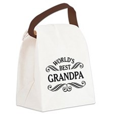 Worlds Best Grandpa Canvas Lunch Bag