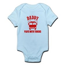 Daddy Plays With Trucks Body Suit
