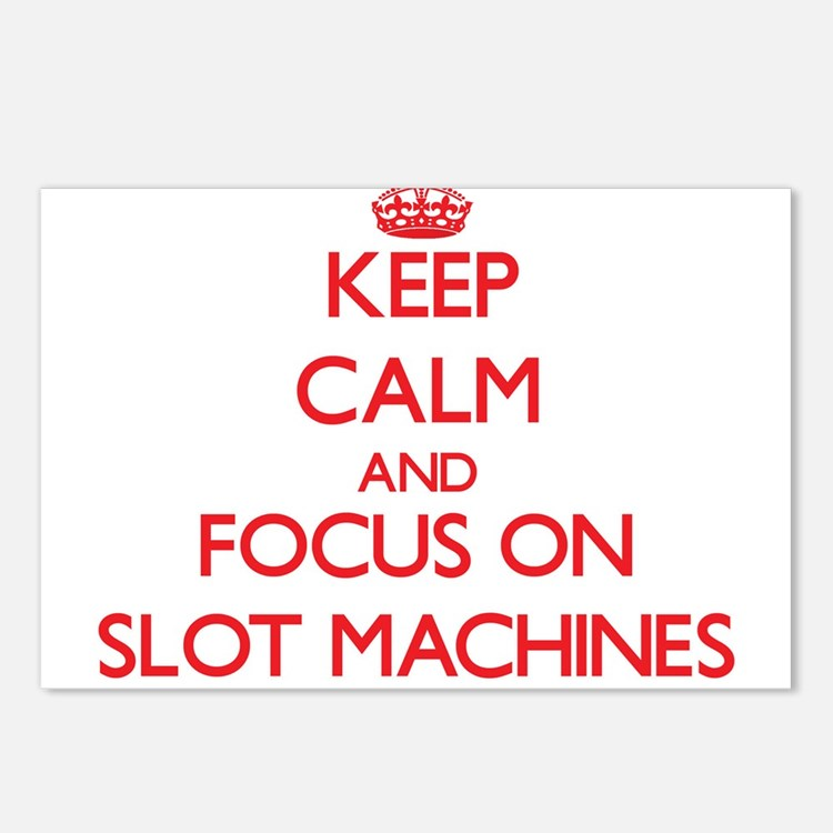 Cute Slot machines Postcards (Package of 8)