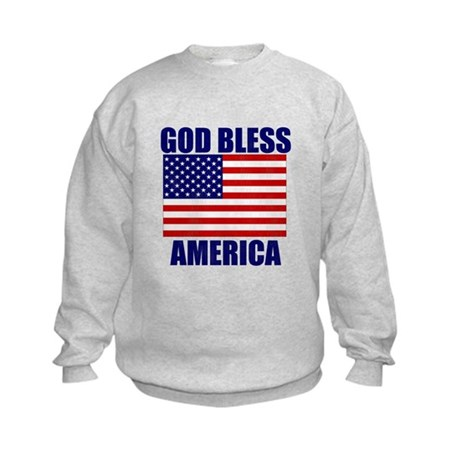 God Bless America Kids Sweatshirt