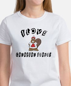 I Love Canadian Beaver Women's T-Shirt