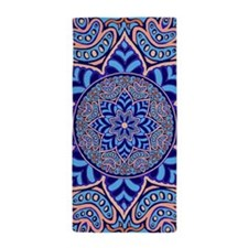 Turquoise Mandala Beach Towel