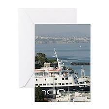 ISCHIA PORTO: Town & Port View / Lat Greeting Card