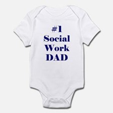 #1 Social Work Dad Infant Bodysuit