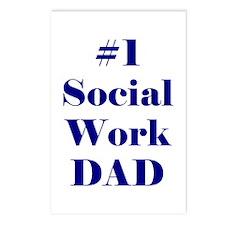 #1 Social Work Dad Postcards (Package of 8)