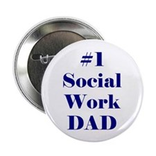 #1 Social Work Dad Buttons (10 pack)