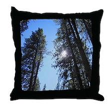 Idaho Mountain Pines Throw Pillow