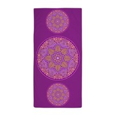 Purple Mandala Beach Towel