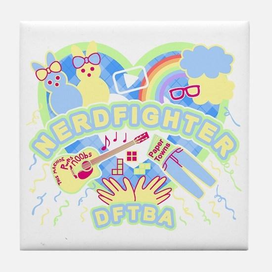 Nerdfighter Cute Tile Coaster