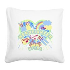 Nerdfighter Cute Square Canvas Pillow