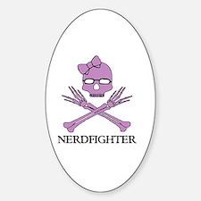 Nerdfighter Skull Decal