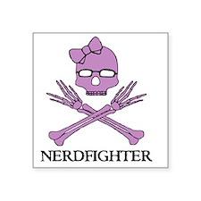"Nerdfighter Skull Square Sticker 3"" x 3"""