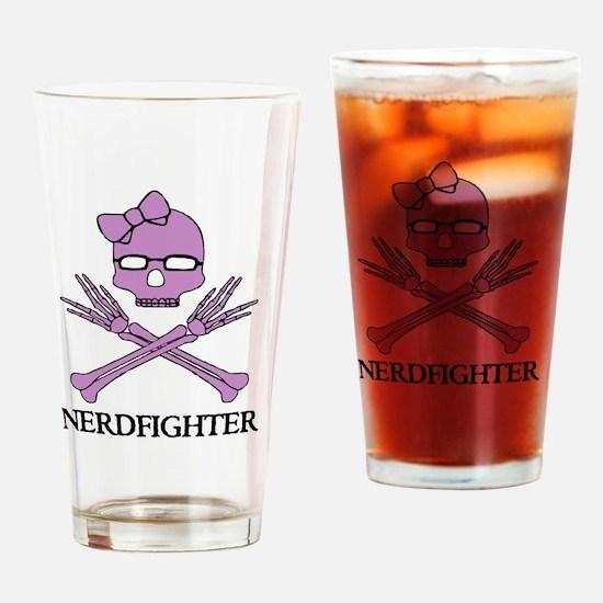 Nerdfighter Skull Drinking Glass