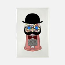 Gumball Machine With Mustache, Bow Tie, Magnets