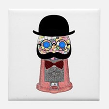 Gumball Machine With Mustache, Bow Tile Coaster