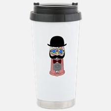 Gumball machine with mustache, bow tie, glasses, a