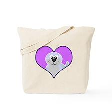 Cute Goofkins Seal in Heart Tote Bag