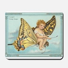Victorian Butterfly Fairy Mousepad