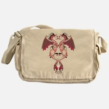 Pink Love Dragons Messenger Bag
