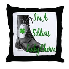 Cute Army fiancee Throw Pillow