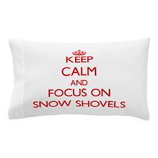 Unique Snow shoveling Pillow Case