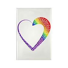 Spotty Rainbow Heart Magnets