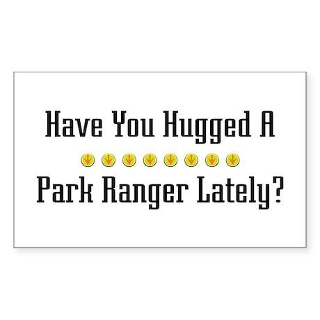 Hugged Park Ranger Rectangle Sticker