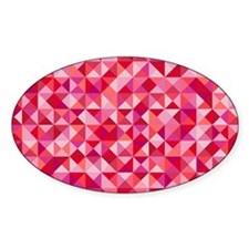 Red & Pink Triangles Decal