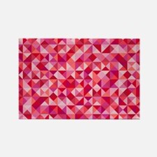 Red & Pink Triangles Magnets