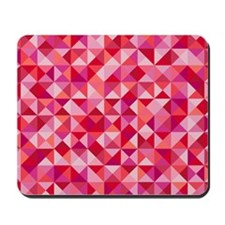 Red & Pink Triangles Mousepad