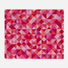 Red & Pink Triangles Throw Blanket