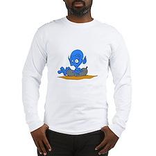 Alien in inner tube Long Sleeve T-Shirt