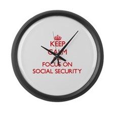 Funny Social security Large Wall Clock