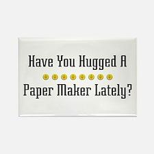Hugged Paper Maker Rectangle Magnet