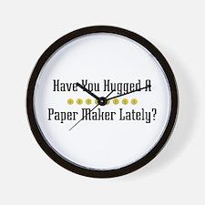 Hugged Paper Maker Wall Clock