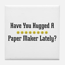 Hugged Paper Maker Tile Coaster