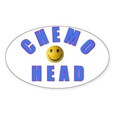CHEMO HEAD Oval Decal