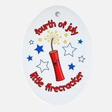 July Firecracker Oval Ornament