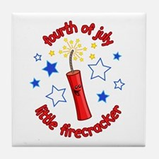 July Firecracker Tile Coaster