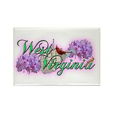 West Virginia Rectangle Magnet