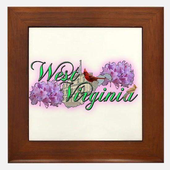 West Virginia Framed Tile